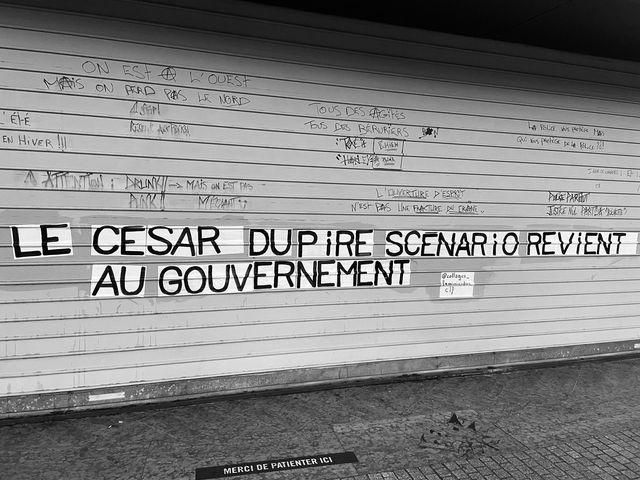 Collage rue de Clermont-ferrand